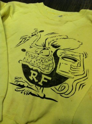 画像1: 1960'S RAT FINK COTTON SWEATSHIRT