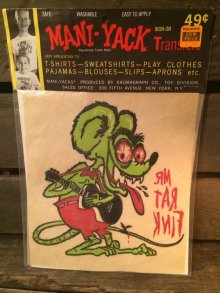 他の写真1: MANI-YACK RAT FINK IRON ON TRANSFER