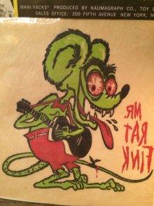 他の写真1: MANI-YACK RAT FINK IRON ON TRANSFER