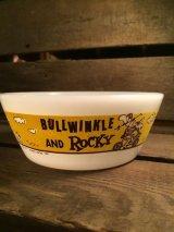ROCKY & BULLWINKLE WESTFLELD BOWL ビンテージ ロッキー&ブルウィンクル カートゥーン チリボウル ウエストフィールド ミルクガラス キッチンウェア アメリカ雑貨 60年代