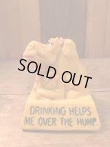 """DRINKING HELPS ME OVER THE HUMP"" Message Doll ビンテージ ラクダメッセージドール 70年代 ヴィンテージ"