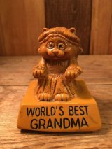 """""""WORLD'S BEST GRANDMA"""" Message Doll ビンテージ 動物メッセージドール 70年代 ヴィンテージ"""