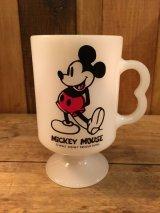 Mickey Mouse Disney Vintage  FEDERAL Mug  ビンテージ ディズニー ミッキーマウス フェデラル ミルクグラス マグ 70年代頃 ヴィンテージ