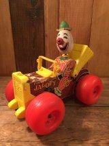 Clown Vintage  Fisher Price Jolly Jalopy ビンテージ フィッシャープライス社 ピエロ クラウン 木製 60年代 ヴィンテージ
