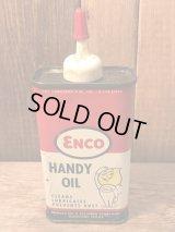Vintage ENCO  ESSO ビンテージ エッソ エンコ  オイルドロップ ビンテージ オイル缶 ハンディオイル 50〜60年代 ヴィンテージ