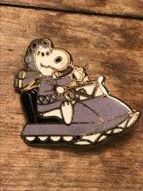 Snoopy Vintage Pin Backs ビンテージ スヌーピー ピンバッジ スノーモービル メタル製 70年代 80年代 ヴィンテージ