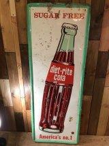 Vintage Diet light Cola sign ビンテージ ダイエットライトコーラ 看板 サイン アドバタイジング 企業物 60年代 ヴィンテージ