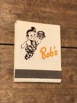 Bob's Big Boy Book Match ビンテージ ビッグボーイ ブックマッチ 企業物 アドバタイジング 70年代 ヴィンテージ vintage