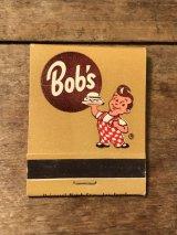 Bob's Big Boy Book Match ビンテージ ビッグボーイ ブックマッチ 企業物 アドバタイジング レストラン 70年代 ヴィンテージ vintage