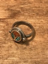 Turquoise Silver Ring ビンテージ ターコイズ 指輪 ヒッピー ピース シルバーリング 60年代 ヴィンテージ vintage