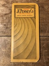 J.C. Penney Co. Notepad Calendar Time Book JCぺニー ビンテージ タイムブック 20年代 ワーク 古着 カレンダー ヴィンテージ vintage