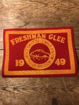 Willamette University Freshman Glee Felt Patch カレッジ ビンテージ ワッペン 40年代 ユニバーシティ フェルト ヴィンテージ vintage