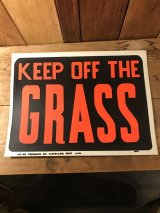 Keep Off The Grass Hardware Sign 看板 ビンテージ 企業 70年代 サイン ヴィンテージ vintage