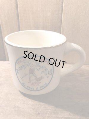 陶器製のボーイスカウトのヴィンテージマグカップ