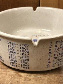他の写真1: Presidents Of The U.S.A. Ashtray 大統領 ビンテージ アシュトレイ 60年代 灰皿 陶器 ヴィンテージ vintage