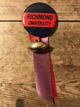 College Football Ribbon Can Badge カレッジ ビンテージ 缶バッジ 50年代 フットボール バッチ ユニバーシティ ヴィンテージ vintage