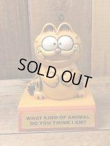 Garfield Plastic Message Push Toy ガーフィールド ビンテージ プッシュトイ メッセージ 80年代