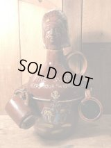 Indian Fire Water Ceramic Decanter インディアン ビンテージ デカンタ 陶器 ジャパン 50年代