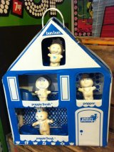 Pillsbury Dough Boy Poppin' Fresh Playhouse ビンテージ ドゥーボーイ ポッピンフレッシュ ピルスベリー フィギュア ソフビ 指人形 ディスプレイ アドバタイジング 企業キャラクター 企業物 トイ toy ヴィンテージ 70年代