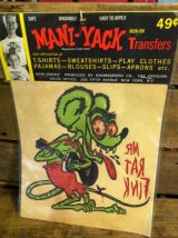 MANI-YACK RAT FINK IRON ON TRANSFER