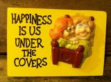 1970's Message Wall Tapestry ~ Happiness is Us Under the Covers ~