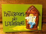 1970's Message Wall Tapestry ~ OUTHOUSE ~ Bathroom No Loitering