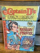 Captain D's EXCITING ADVENTURES ビンテージ キャプテンディーズ フリーペーパー ノベルティー ブック アドバタイジング 企業キャラクター 企業物 アメリカ雑貨 ヴィンテージ 80年代 vintage