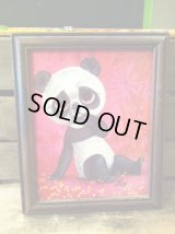 SAD BIG EYE PANDA BEAR Picture Art