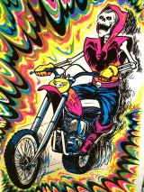 Wild Motorcycle CHOPPER BlackLight POSTER