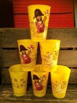 McDonald's Plastic Cup CAPTAIN CROOK ビンテージ マクドナルド キャプテンクロック ノベルティー プラカップ コップ ヴィンテージ アメリカ雑貨 70年代 vintage