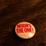 NIXON'S THE ONE! Tin Badge