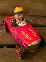 BUMP'N GO HOT ROD Tin Car