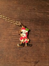 Mickey Mouse Necklace ビンテージ ディズニー ミッキーマウス サンタ ネックレス アメリカ雑貨 ヴィンテージ 80年代