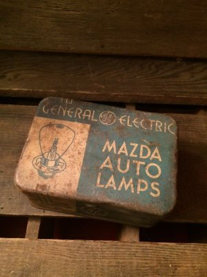 画像1: General Electric Lamps Metal Tin Can