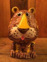 Lion Ceramic Bank ビンテージ ライオン トラ バンク 貯金箱 フィギュア セラミック トイ toy おもちゃ ヴィンテージ 70年代