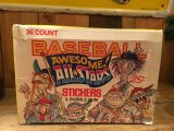 AWESOME! ALL-STARS BASEBALL STICKERS & BUBBLE GUM COMPLETE SET
