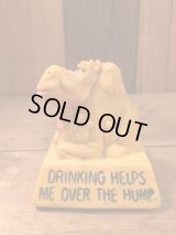 """DRINKING HELPS ME OVER THE HUMP"" Message Doll ビンテージ ラクダメッセージドール 70年代 ヴィンテージ"