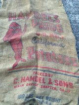 Potato sack Vintage  ビンテージ ポテトサック 麻袋 50年代 ヴィンテージ