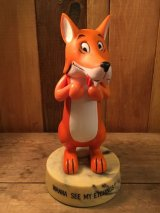 "Goofy Grams DAKIN Vintage Figre  Fox ""Wanna see my etchings?"" ビンテージ 台座つきフィギュア キツネ DAKIN製 70年代 ヴィンテージ"