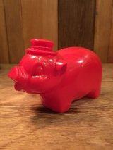 Pig piggy bankPig piggy bank Pig piggy bankVintage ビンテージ プラスチック ピギー バンク 豚 貯金箱 70年代 ヴィンテージ