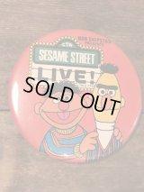 Sesame Street Ernie & Bert Can Badge ビンテージ セサミストーリート ジムヘンソン アーニー バート 缶バッジ 80年代