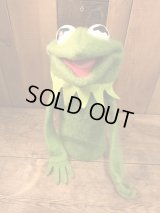 70's Sesame Street Kermit the Frog Puppet Doll ビンテージ フィッシャープライス セサミストリート ジムヘンソン マペッツ カーミット ハンドパペット 70年代 ヴィンテージ