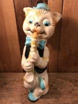 Squeeze Figure Vintage Cat ビンテージ スクイーズトイ 猫 ネコ ソフビ製フィギュア lan Jay Clarolyte社 MADE IN U.S.A 60年代 ヴィンテージ