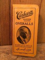1930 CARHARTT OVERALLS POCKET LEDGER AMERICAN BROADCASTING STATIONS ビンテージ カーハート メモ帳 アメリカンブロードキャストステーション 30年代 ヴィンテージ