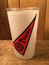 College Pennant VIntage Glass ビンテージ カレッジ グラス ペナント柄 ラグビー チーム 60年代 70年代 ヴィンテージ