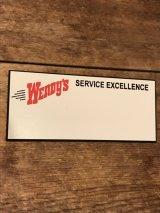 WENDY'S employee Name Tags   ビンテージ ウェンディーズ ネームプレート 企業 アドバタイジング