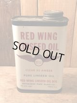 RED WING LINSEED OIL Tin Can ビンテージ レッドウィング オイル缶 企業 アドバタイジング 50年代 ヴィンテージ
