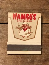 Hambo's Book Match ビンテージ レストラン ブックマッチ 企業物 アドバタイジング 70年代 ヴィンテージ vintage