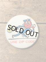Mr Zip Can Badge  ミスタージップ ビンテージ アドバタイジング 企業キャラクター 缶バッジ バッチ 60年代 ヴィンテージ vintage