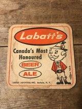 Labatt's Beer Cardboard Coasters  ラバッツビール ビンテージ アドバタイジング 企業キャラクター コースター 60年代 ヴィンテージ vintage